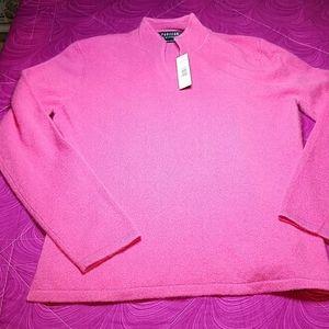 Parisian Signature pink 100% cashmere sweater Med